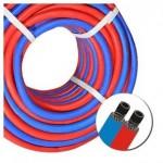 Рукав газовый cдвоенный синий-красный G1/4 х G3/8LH