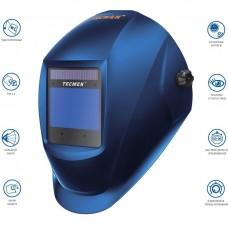 Маска сварщика TECMEN ADF 815S TM16 Синяя (с внешней кнопкой режима зачистки)